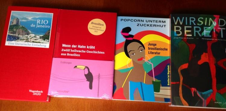 Antologias alemães que publicaram meus contos em 2013